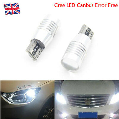 Canbus Cree T10 LED Bulbs Xenon White Halo Rings Angel Eyes FOR BMW E60 E61