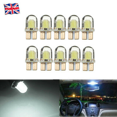 T10 COB 8SMD W5W 168 194 501 Silicone LED Car Interior Side Light Wedge 12V