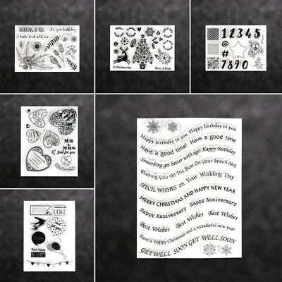 Decorative Clear Merry Christmas Scrapbooking Transparent Stamp Silicone Rubber