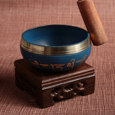CADC Copper Bowl Singing Bowl Sky Blue Religion Faith Relax Soothing Sound