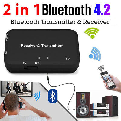 Receiver Transmitter Music Adapter 3.5mm Audio Wireless Bluetooth For TV MP3 PC