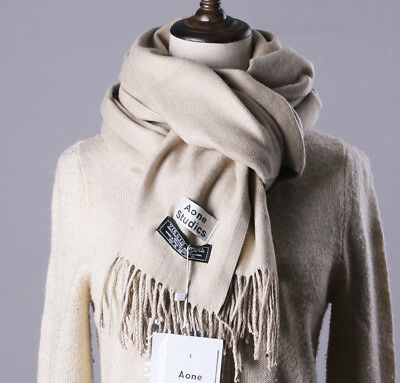 Cashmere Wool Scarf Pashmina Wrap Fall Winter Warm Cozy Soft Touch Solid Shawl