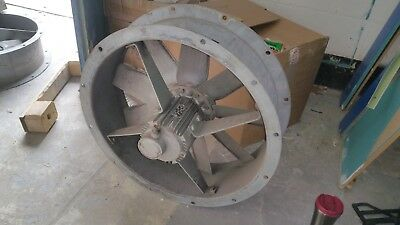 630mm Short Cased Axial Industrial Extractor Fan 3 Phase 380/420v 1.5KW