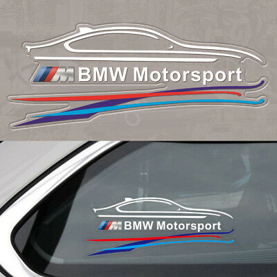 1Ps White Motor M Tech Window Emblems Autos Sticker Badge Dashboard For All