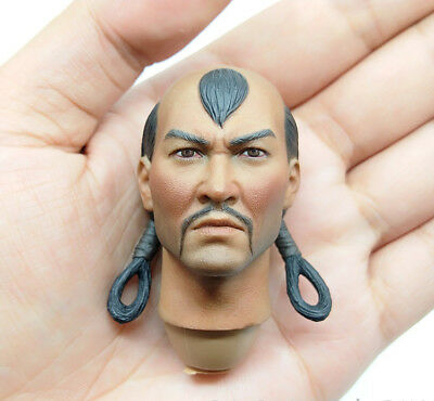 """1/6th Ancient Asian Soldiers Mongolian Cavalry Head Sculpt For 12"""" Male Action"""