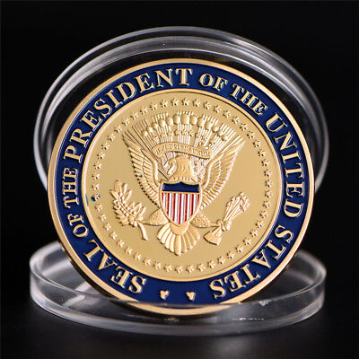 US 45th President Donald Trump Commemorative Coin  Collection Gifts SouvenirLJ