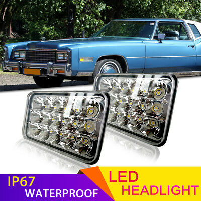 "4"" x 6"" Sealed Beam LED Square Headlights Fit Chevrolet Kenworth Peterbilt"