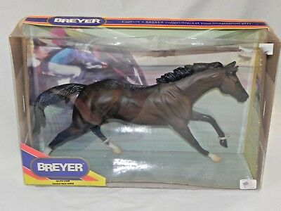 New NIB Breyer Horse 476 B Famous Race Dark Bay in Damaged Box Traditional