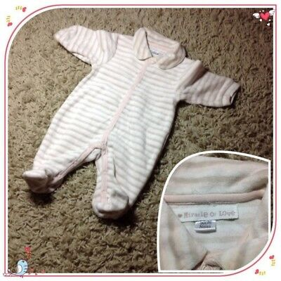 Pyjama MIRACLE OF LOVE bébé fille Naissance 50cm TBE miracle of love