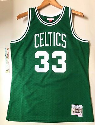 2efa262a0 Larry Bird Boston Celtics Mitchell Ness 1985-86 HWC Swingman Jersey Green  Mens