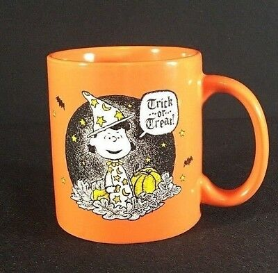 Lucy Peanuts Halloween Great Pumpkin Patch Ceramic Lg Coffee Tea Mug Cup NEW
