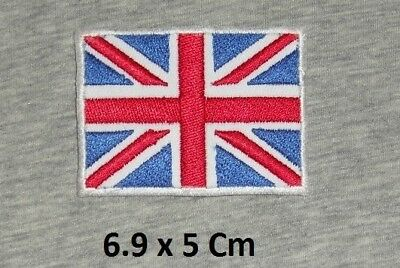 British Flag Union Jack Red- Blue & White Iron/ Sew-on Embroidered Patch/ Badge