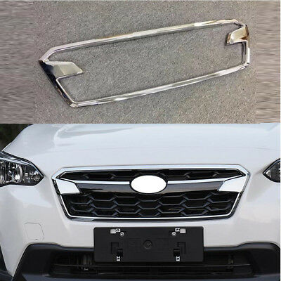 Fit For 2018 Subaru Crosstrek XV Modulo Front Grill Grille Top Grade ABS Chrome