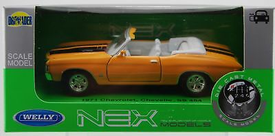 Welly 1971 Chevrolet Chevelle Ss 454 Yellow 1:34 Die Cast Metal Model New In Box