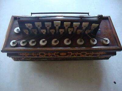 Antique Busson Paris mid 19th C  inlald French  Flutina musical instrument