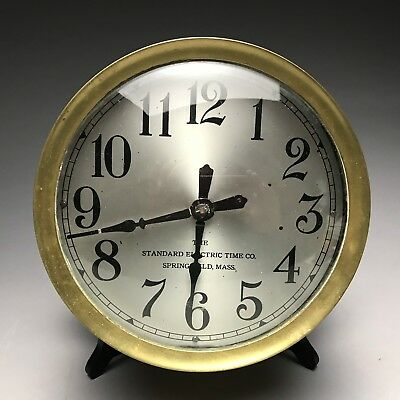 Antique Industrial Standard Electric Large Heavy Brass Slave Clock