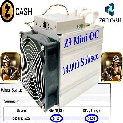 Equihash 1Hr 14,000 Sols/sec Mining Contract Z9 mini ZEN / Zcash Buy1 Or Buy1000