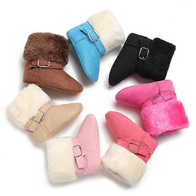 Baby Girls Boys Soft Booties Fall Winter Snow Cashmere Boots Toddler Warm Shoes