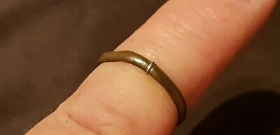 Rare superb Ancient Viking ladies bronze ring. Please read description. L88y
