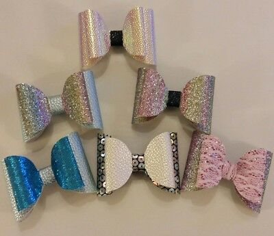 "3"" Plastic Hair Bow Template Make Your Own Glitter  Bows"