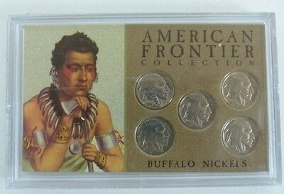 American Frontier Collection Buffalo Nickel Set USA 5 Cent Coins