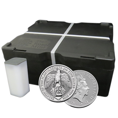 Lot of 200 - 2019 U.K. 5 Pound Silver Queen's Beast Falcon .9999 2 oz BU