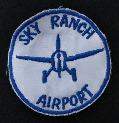 """Vintage Sky Ranch Airport 3 1/2"""" Jacket Patch - West Bend Wisconsin - Unsewn"""