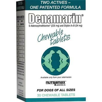 Denamarin Chewable Tablets 225mg for Dogs (all sizes) 30 or 75 Count