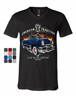 American Tradition Ford Motor Company V-Neck T-Shirt Classic Since 1903 Tee