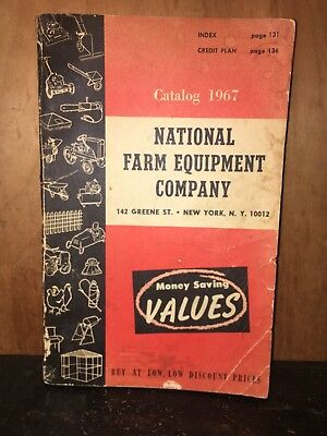 National Farm Equipment Company 1967 Vintage Catalog Book Advertising