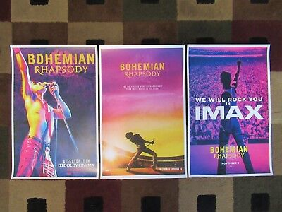 "Bohemian Rhapsody (11"" x 17"") Movie Collector's Poster Prints (SET OF 3)"