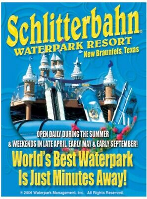 SCHLITTERBAHN NEW BRAUNFELS TICKETS or SEASON PASS SAVINGS A PROMO TOOL DISCOUNT