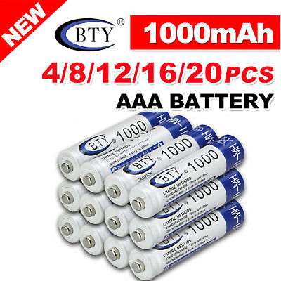 Battery Rechargeable 1.2V  Ni-MH 4-20X BTY AA / AAA  Recharge Batteries
