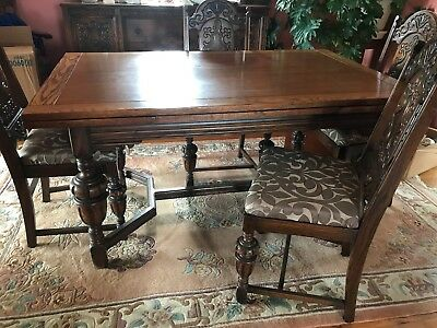 LAST PRICE DROP - Antique Oak Dinning Room Set with Buffet and China Hutch