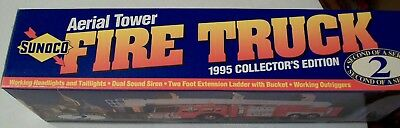 1995 Sunoco Aerial Tower Fire Truck Collector Edition 2 New In Box