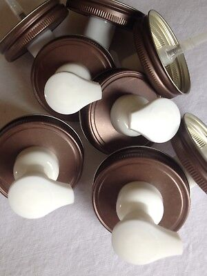 50 Wholesale/Bulk Mason Jar FOAMING Soap Dispenser Lids. Weathered Bronze Lids