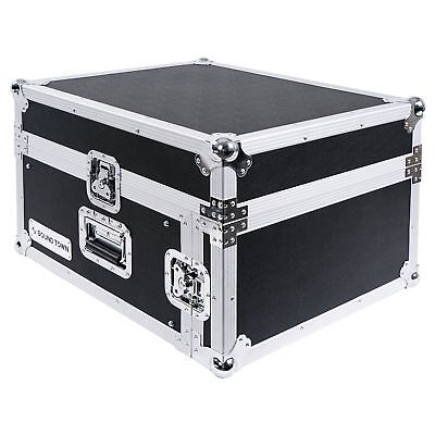 4-Space PA DJ Pro Audio Rack Road Flight Case with Slant Mixer Top (STMR-4U)