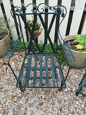 Holiday Sale! Set of 2 Salterini Wrought Iron Metal Rocker Bouncer Patio Chairs