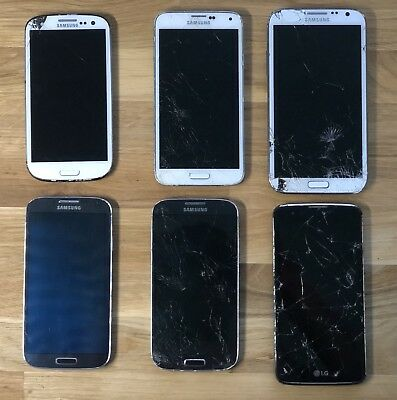 Lot of 6 Samsung/LG Smartphones | UNTESTED | SOLD AS IS