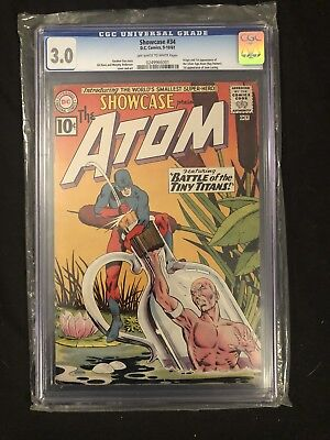 Showcase #34 (Sep-Oct 1961, DC) CGC 3.0 1st Silver Age Atom Ray Palmer