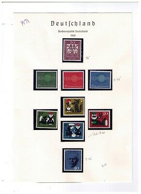 Germany Stamps,1960-71 Beautiful Lot On 32 Pages,mnh,cv:$178.00
