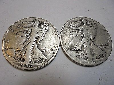 Silver Walking Liberty Half Dollars-27 Coins-1936-1945-P-D-S-Estate Closeout !!!