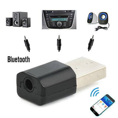 Mini USB Wireless Bluetooth 3.5 mm Audio Stereo Music Receiver Adapter AUX Car