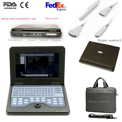 Convex/Linear/Cardiac/Tranvaginal,Portable Ultrasound Scanner Laptop Machine USA