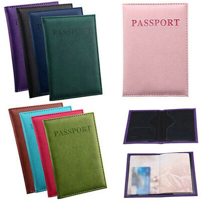 PU Leather Passport Case Holder Organiser Travel ID Credit Card Wallet Cover
