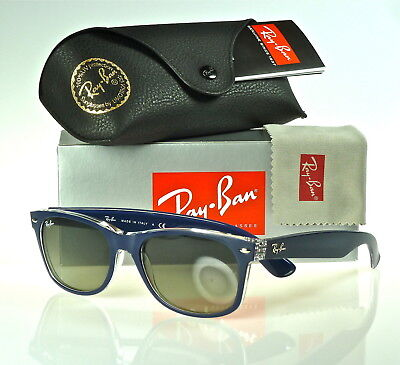 8c1920c5167 Ray-Ban New Wayfarer Rb2132 605371 55Mm Matte Blue-Transparent   Grey  Gradient