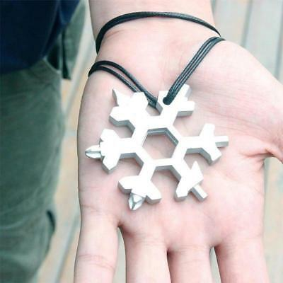 NEW Amenitee 18-in-1 stainless steel snowflakes multi-tool Free Shipping SILVER