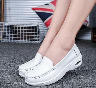 bd2c7ff3c8f Womens Platform Wedge Slip on Loafers Casual Comfy Sneakers Nurse work Shoes