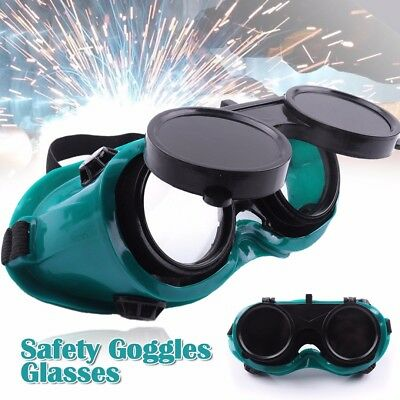 Welding Cutting Welders Safety Goggles Glasses Flip Up Cover Lenses Safety Glass