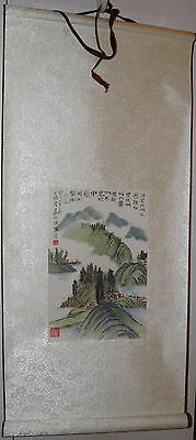 ORIGINAL Asian Landscape SCROLL PAINTING Chinese Japanese Wall Art Price To Sell